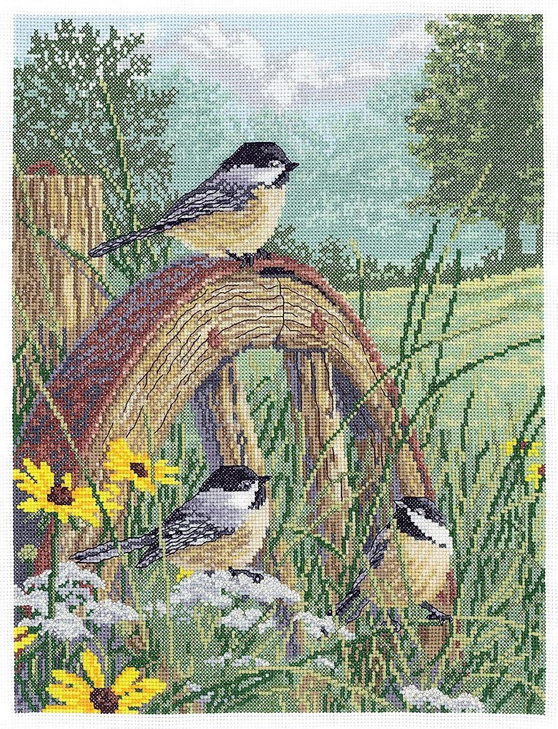 Janlynn 008-0203 Meadow's Edge Counted Cross Stitch Kit, 11 x 14