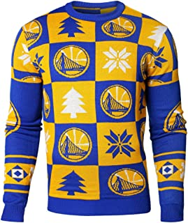 FOCO NBA Mens 2016 Patches Ugly Crew Neck Sweater, Team Variation