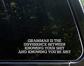 Grammar Is The Difference Between Knowing YOUR Sh!T & Knowing YOU'RE SH!T! - 8-3/4