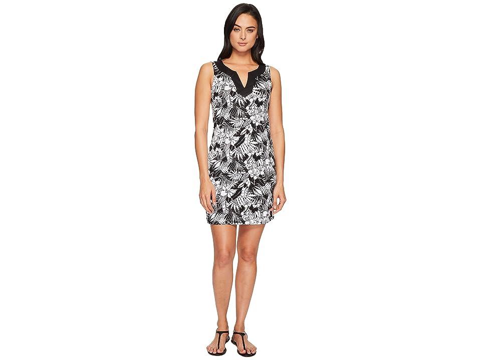 Tommy Bahama Palm Noir Sleeveless Tunic Dress (Black) Women