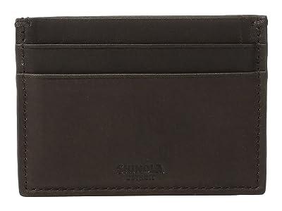 Shinola Detroit Five-Pocket Card Case (Deep Brown) Wallet Handbags