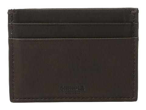 cinco marrón oscuro Shinola Estuche bolsillos con color Detroit tarjetas para BwgX8Z