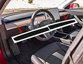topfit Car Interior Dashboard Wood Wrap Stickers for Model 3(Matte Black)