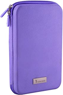 Amazon Brand - Solimo Travel Case for Small Electronics and Accessories (Purple)
