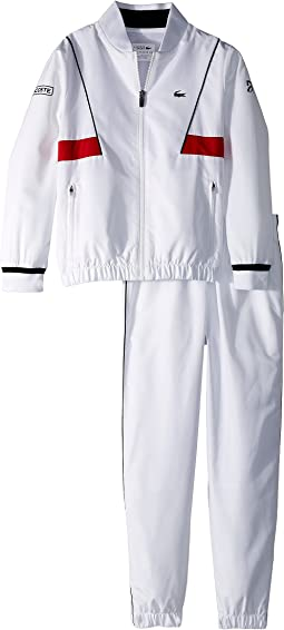 Lacoste Kids Taffeta Novak Djokovic Tracksuit (Little Kids/Big Kids)