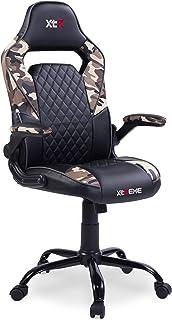 Adec - XTR X20, Silla de Oficina Gaming, Silla de despacho, Escritorio o Estudio, sillón en símil Piel Color Negro y Camuflaje, Medidas:Medidas: 60 cm (Ancho) x 50 cm (Fondo) x 122-132 cm (Alto)