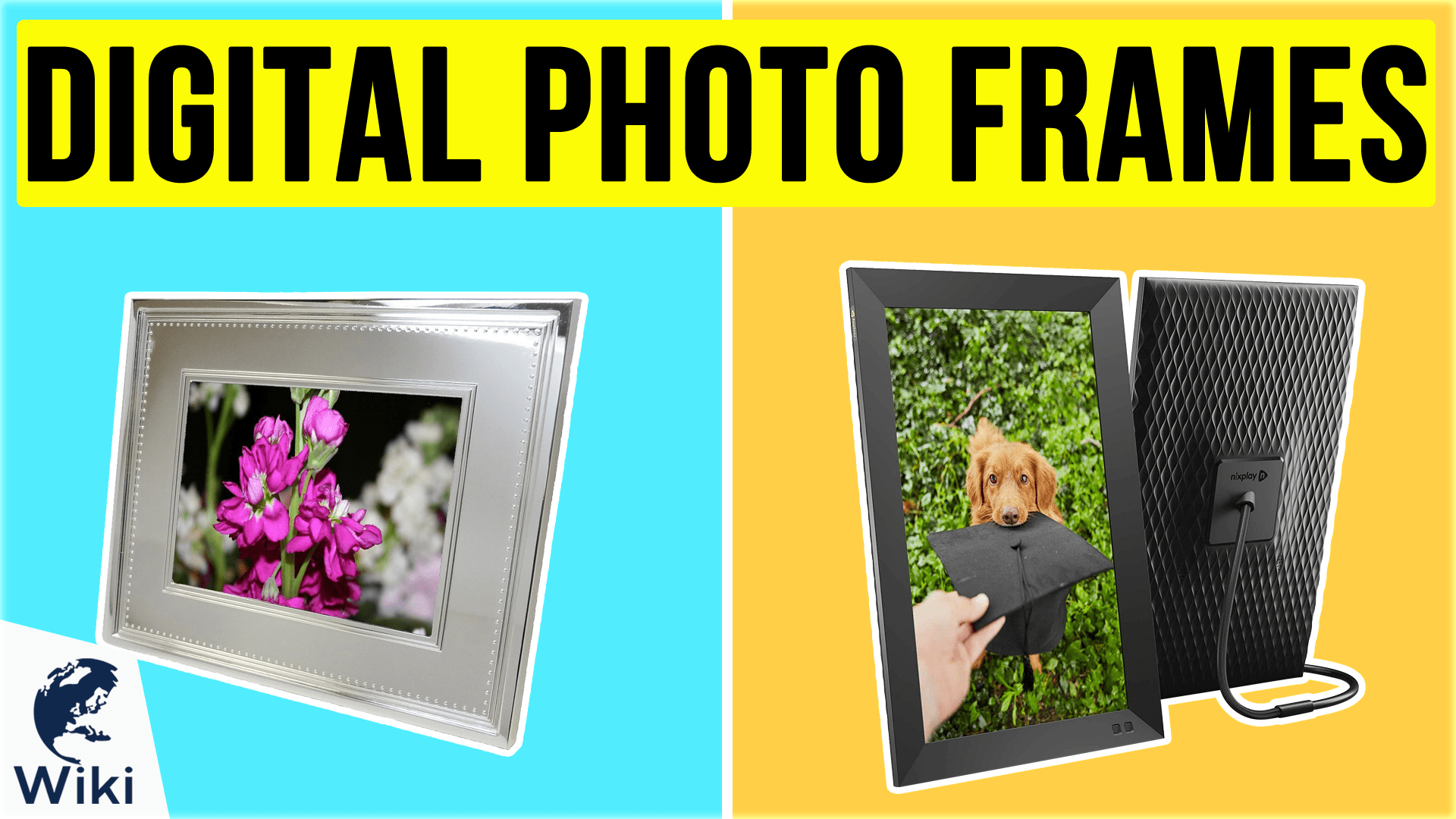 GEQWE Digital Photo Frame 18.5 Inch Digital Photo Frame 1366768 Pixels High Resolution LED Screen 1080P HD Video Playback Auto On//Off Timer Display and Share Photos with Friends