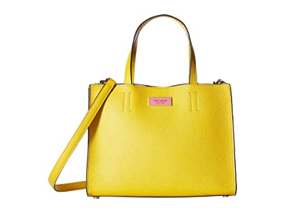 Kate Spade New York Sam Medium Satchel (Vibrant Canary) Handbags