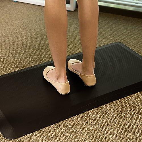 FlexiSpot Standing Desk Anti-Fatigue Mat Comfort Kitchen Floor Mat Flat Kitchen mats Black