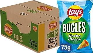 Lay's Bugles Nacho Cheese Chips, Doos 12 stuks x 75 g