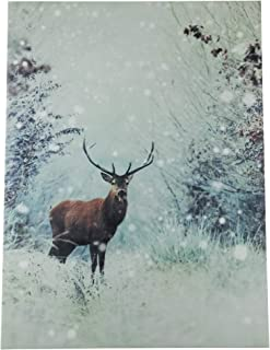 snowy deer canvas