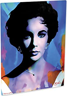Elizabeth Taylor   The Color of Passion   Pop Art Giclee Metal Print by Mark Lewis