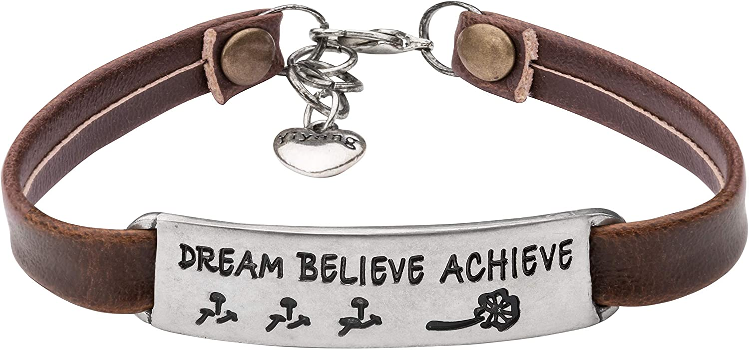 UNQJRY Bracelets for Women Gift Fashionable Brithday Inspirational Challenge the lowest price of Japan Learther
