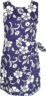 Women's Classic Hibiscus Hawaiian Mock Wrap Sarong Dress