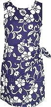 RJC Women's Classic Hibiscus Hawaiian Mock Wrap Sarong Dress
