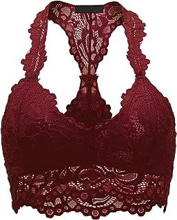 Womens Sexy Crisscross Deep V Lace Bralette
