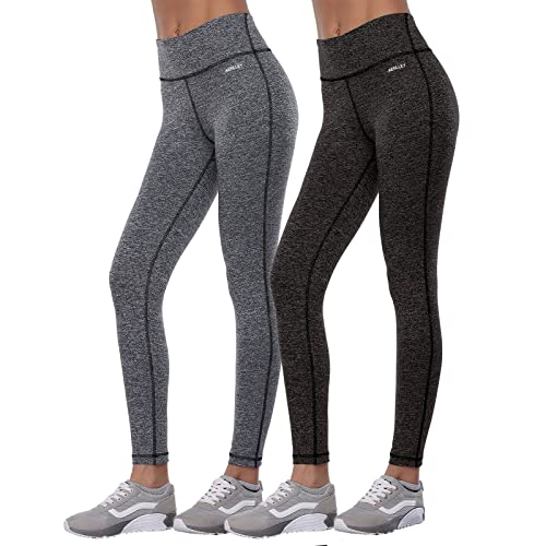 Aenlley Women s Activewear Yoga Pants High Rise Workout Gym Spanx Tights  Leggings 868be4572b