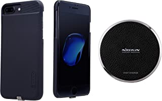 Magic Disk 3 wireless charger with magic case for Apple iPhone 7+ 7 Plus Black