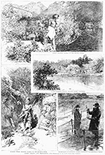 Salmon Fishing 1888 Ntop A Native American Spearing Salmon On The Mccloud River In California Center A Salmon Hatchery On ...