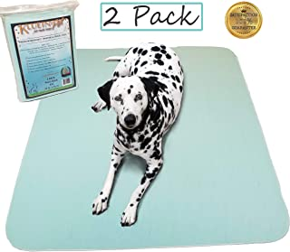 Kluein Pet Washable Pee Pads for Dogs, Washable Puppy Pads, 2-Pack XXL (36x41) Waterproof Potty Pads, Whelping Pads, Pet Pen, Travel, Dog Training Pads