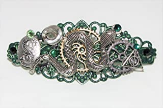 Hair Clip Magic School Snake House Barrette Wizards Witches Steampunk Barrette