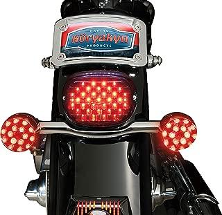 Kuryakyn 5439 Motorcycle Lighting: Low Profile LED Taillight Conversion Kit without License Plate Illumination Light for 2005-19 Harley-Davidson Motorcycles,  Smoke Lens