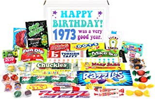 Woodstock Candy ~ 1973 46th Birthday Gift Box Nostalgic Retro Candy Mix from Childhood for 46 Year Old Man or Woman Born 1973 Jr