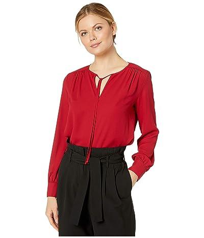 Karen Kane Crossover Tie Top (Red) Women