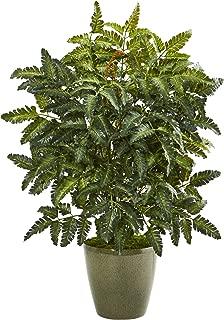 Nearly Natural 30in. Bracken Fern Artificial Green Planter Silk Plants