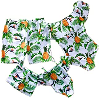 GBD 2019 Family Matching Swimwear Mommy and Me Swimsuit One Pieces Monokini High Waisted Bathing Suits Bikini Set Back to School