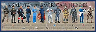 History of the American Hero Posters & Prints | Solute to US Heroes Wall Art Gifts & Bedroom Decor | Poster & Print for En...