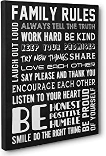 family rules wall art canvas