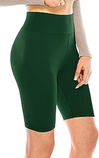 Women's High Waist Bike Shorts - Athletic Workout Tummy Control Stretch Running Yoga Pants