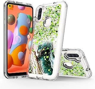 Samsung Galaxy A11 Case, Rosebono Hybrid Bling Glitter Sparkle Epoxy Graphic Marble Colorful Silicone Skin Cover Armor Cas...