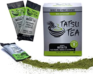 Organic Matcha Tea Electrolyte Sports Drink - Hydration Powder, Hangover Cure, Energy Drink, No Jet Lag, Focus Aid and Workout Performance