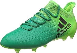 the best attitude 8a949 baafe adidas X 16.1 FG Cuir - Crampons de Foot - Vert Solaire Noir Vert