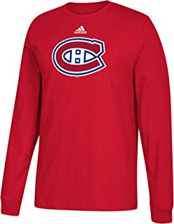 NHL Montreal Canadiens Adult Primary Logo Stand Out L/S Tee, Medium, Red