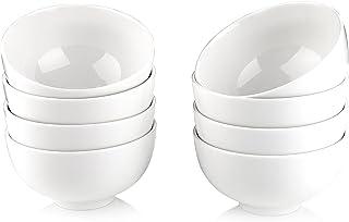 """MALACASA Série Regular, 8pcs Bol Porcelaine Bol à Céréales Soupe Riz Vaisselles Céramique Blanc Service de Table 4.5""""/11.6..."""