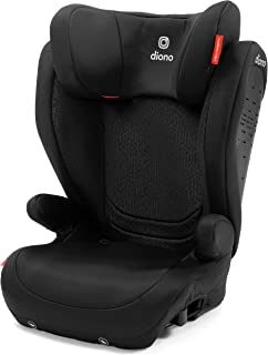 Diono Monterey 4DXT Latch, 2-in-1 Belt Positioning Booster Seat with Expandable Height/Width and 3-Layers of Protection, Black