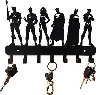 HeavenlyKraft Super Heros Wall Mounted Metal Key Holder Size 27 X 17 X 2CM Decorative Key cabinet/ Childrens room decor