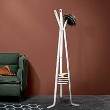 Coat Hanger Stand Rack Clothes Wooden Hat Jacket Bag Umbrella Hook White