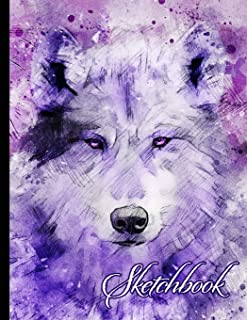 """Sketchbook: Wolf Themed Personalized Artist Book 