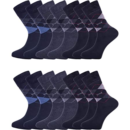 14-Pack Mens Socks | Smart Breathable Luxury Cotton Socks | Eco-Friendly From Recycle Cotton Socks | Mens Multipack Socks | Socks Mens 6-11