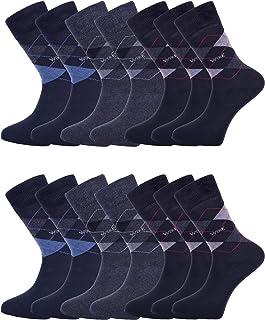 14-Pack Mens Socks | Smart Breathable Luxury Cotton Socks | Eco-Friendly From Recycle Cotton Socks | Mens Multipack Socks...