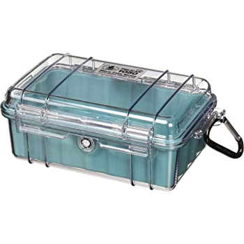 Pelican 1050 Micro Case - for iPhone, GoPro, Camera, and more (Aqua/Clear)