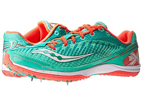 Saucony Kilkenny XC5 Spike Aqua/Vizicoral B - Medium Women's Running Shoes 8449100