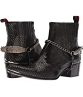 Jeffery-West - Sylvian Tooled Spur and Chain Chelsea Boot