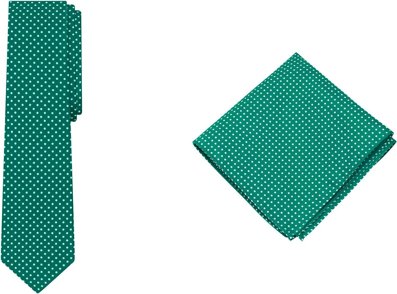 Jacob Alexander Polka Dot Print Men's Extra Long Tie Pocket Square Set