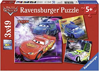 Ravensburger Cars On The Racetrack Jigsaw Puzzle (3 x 49 Piece)