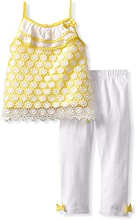 Mud Pie Baby-Girls Infant Crochet Tunic And Legging Set